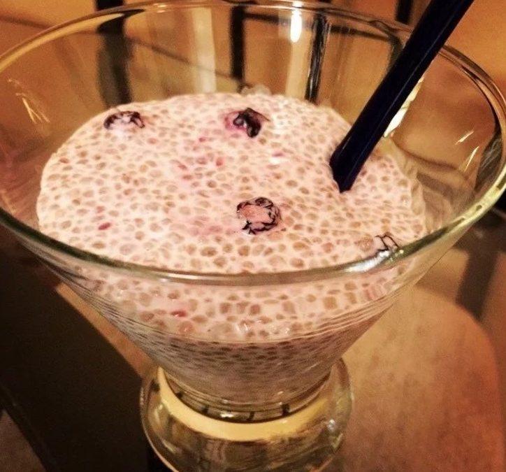 Overnight Blueberry Chia pudding