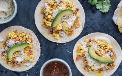 Vegan Migas Breakfast Tacos