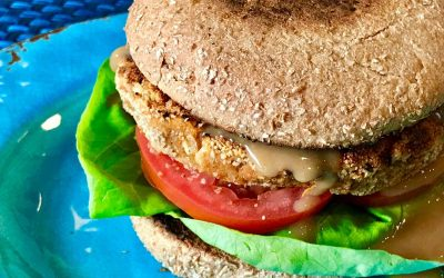 Sweet Potato Bean Burgers With Maple Dijon Sauce