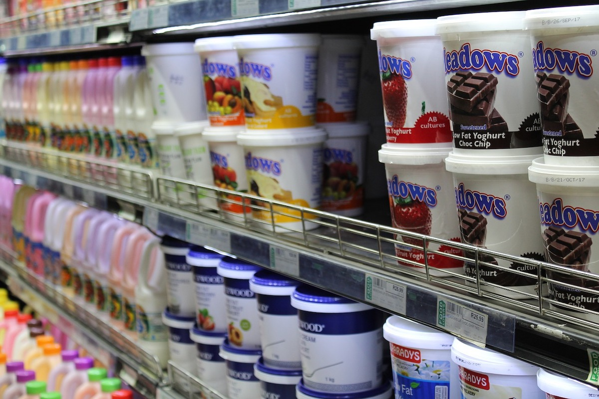 yogurt shelf