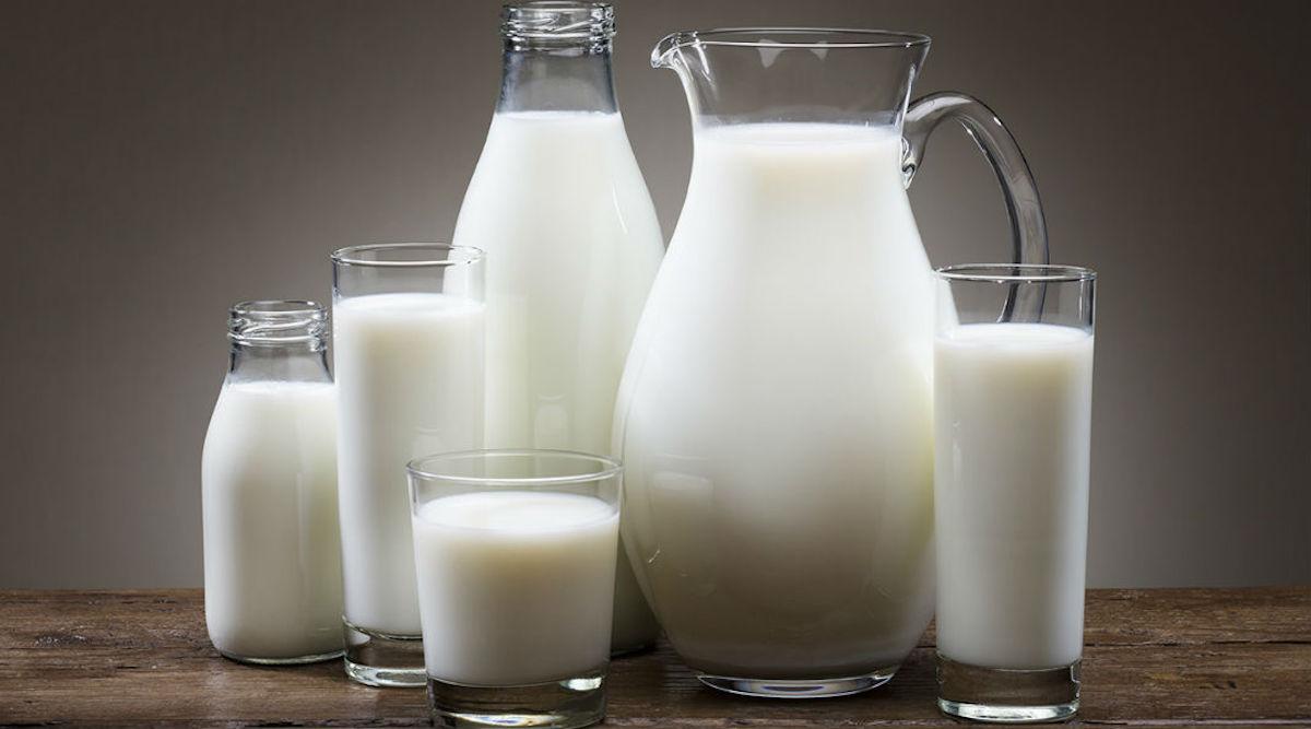 milk glasses