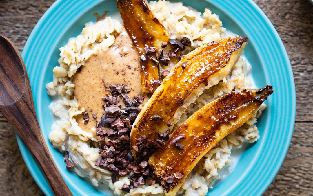 Caramelized Banana Protein Oatmeal