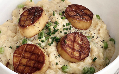 Dairy-Free Risotto with Mushroom Scallops