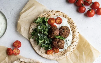 Plant-Based Greek Meatballs with Dairy-Free Tzatziki